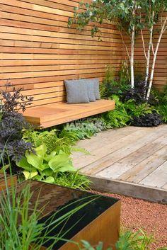 78 ideas of modern garden fence designs for summer ideas 33 unordinary small backyard landscaping design ideas that looks elegant Garden Privacy, Garden Fencing, Balcony Privacy, Small Gardens, Outdoor Gardens, Front Gardens, Modern Garden Design, Modern Design, Diy Design