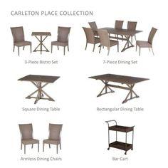 Hampton Bay Carleton Place 7-Piece Patio Dining Set-RXHD-43-SET - The Home Depot