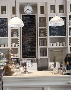 Taking inspiration from coffee shops and cafes ... kitchens these days look more useful and beautiful at the same time ...