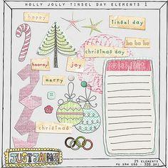 Holly Jolly Tinsel Day element pack from Just Jaimee #digiscrap #scrapbooking #digifree #scrap #freebie #scrapbook