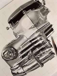 Realistic Drawings Nobody Can Believe This Japanese Artist's Pencil Drawings Aren't Photographs - BlazePress - At first glance the work of Japanese artist Kohei Ohmori appears to be high quality black and white photographs thanks to their sharp and Realistic Pencil Drawings, Pencil Drawing Tutorials, Car Drawings, Arte Lowrider, Illustration Photo, Artist Pencils, Chicano Art, Automotive Art, Japanese Artists
