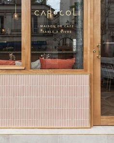 Carreaux Plaquettes cm X Normandy Ceramics, M Restaurant Facade, Cafe Restaurant, Commercial Design, Commercial Interiors, Restaurant Design Moderne, Shop Facade, Cafe Interior Design, Brewery Interior, Interior Architecture