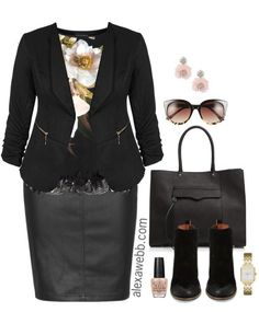 A plus size faux leather skirt can be a wardrobe staple this fall and winter. You can easily build edgy and rocker-chic outfits by adding lots of black pieces in different textures. Throw in some studded accessories for good measure. But you can also wear a plus size faux leather skirt to the office or to… Read More