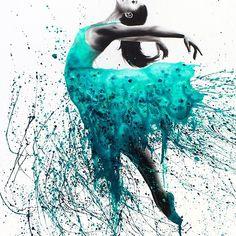 Kingfisher Woman Duvet Cover by AshvinHarrison - Queen: x Ballet Drawings, Dancing Drawings, Art Drawings, Art Ballet, Ballerina Painting, Ballerina Kunst, Ballet Wallpaper, Bel Art, Images D'art