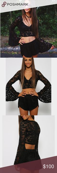 Black lace set Brand: Peppermayo size:small condition: worn once Urban Outfitters Dresses Mini