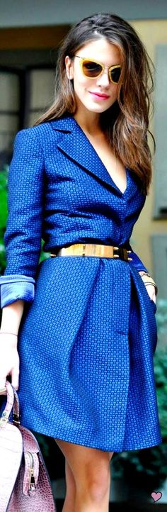 You do cobalt blue..  Love everything from wrap, to, belt to hue. ;-)