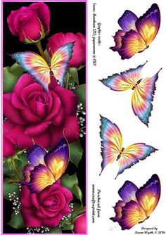 Beautiful Rose Flutter DL by Karen Wyeth A pretty quick card topper featuring…