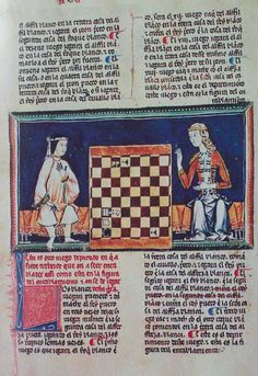 Alfonso X Book of Games. A Moorish and a Christian woman