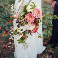"""""""A lovely bridal bouquet from a while back...thanks @extracelestial for the pic! #farmgirlweddings #fgflove #americangrown"""""""