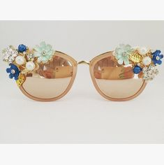 Your place to buy and sell all things handmade Flower Sunglasses, Fashion Eye Glasses, Fancy Earrings, Vintage Fashion, Women's Fashion, Shades Of Gold, Love To Shop, Reading Glasses, Small Businesses