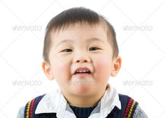 Little boy with funny face ...  adorable, asia, asian, babe, baby, boy, child, chinese, chubby, cute, excited, face, fat, funny, giggle, happy, infant, isolated, japanese, kid, korean, laugh, lip, little, lovely, male, man, newborn, portrait, pout, purse, skin, smile, smooth, studio, titter, toddler, white, young