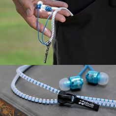 Keep your earbuds from tangling with these zipper earbuds