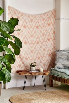 Graham Keegan Blush Shibori Tapestry - Urban Outfitters