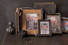 How to Make Paranormal Portraits And here's another tutorial for the lights for the eyes.  http://www.education.com/activity/article/recycling-christmas-lights/