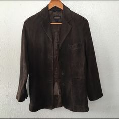 COACH SZ SMALL LEATHER SUEDE BROWN SUIT BLAZER As seen Coach Jackets & Coats