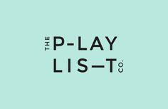 Sans-serif logotype for Toronto based custom event soundtrack business The Playlist Co. by graphic design studio Blok