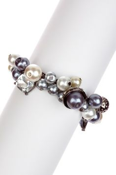 Simulated Pearl Cluster Charm Bracelet by Stella + Ruby on @HauteLook