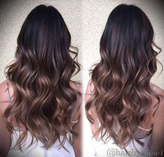Brown baylage ombre