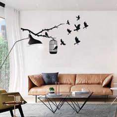 Adesivo de parede gaiola pássaros - StickDecor | Decoração Criativa