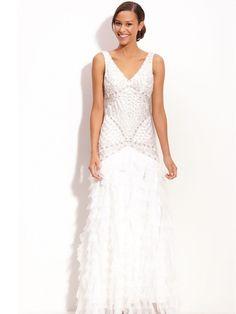1920's wedding dress inspired