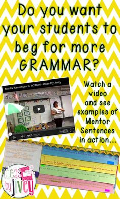 this post walks you through step by step how to do mentor sentences with a video, too!