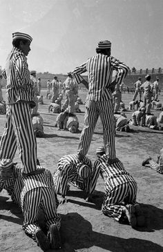 Frank Scherschel. Prison in Mexico. 1950. Not sure exactly what these guys are doing here, but it is an interesting photo!
