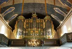 The Spectacular Wall Organ in the Cathedral of Oslo Norway.