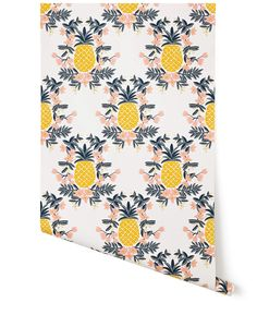Pineapple (Sorbet) // for our dining nook with white wainscoting