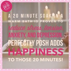 Check out Perfectly Posh bath salts! Pamper yourself with our amazing aromas, take some time out to take a bath and Relax!  https://www.perfectlyposh.com/Brianna_DiCave/products?title=&field_shop_category_tid%5B%5D=5993&sort_by=created&sort_order=DESC