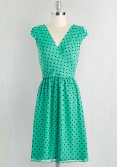 All She Wants to Do is Prance Dress in Jade, @ModCloth