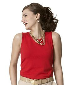 Pull together all your pre-summer pieces with this sleeveless shell. The silk blend is light enough for layering, but the silhouette — akin to a smartly tailored tank's — has stand-alone sophistication.  Shell, $24, August Silk, augustsilk.com.  - GoodHousekeeping.com