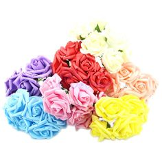 P80 Wedding Bouquet Latex Rose Flower Head Posy Party Bridal Bridesmaid Decor