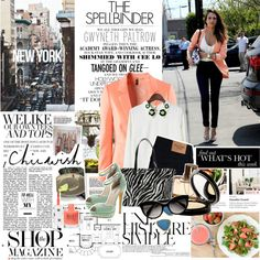 Jessica Alba by mars on Polyvore featuring moda, H&M, Abercrombie & Fitch, Windsor Smith, Prada, Elizabeth Arden, Chloé, Topshop, Gwyneth Shoes and Une