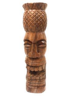 Hawaiian Crafts, Hawaiian Tiki, Hawaiian Theme, Tiki Man, Tiki Tiki, Tiki Pole, Tiki Lights, Outdoor Tiki Bar, Pineapple Tattoo