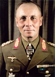 Erwin Johannes Eugen Rommel (15 November 1891 – 14 October 1944) was a German field marshal of World War II who won the Pour le Mérite during WWI. In World War II, he further distinguished himself as the commander of the 7th Panzer Division during the 1940 invasion of France. His leadership of German and Italian forces in the North African campaign established him as one of the most able commanders of the war, and earned him the appellation of the Desert Fox.