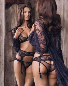 Classy is the New Sexy check out the blog for more: link in the profile bio! #instalingerie #lacelingerie #garterbelt #brunettes