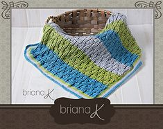 A fun and beautiful blanket for not only little ones, but for larger blankets as well! This pattern includes a chart of stitch pattern, as well as written instructions. The stitch combination give a unique textured look.