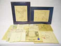 Collection Of Antique Ephemera and Maps www.JJamesAuctions.com