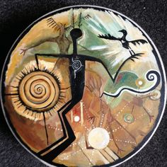Ancestor Of All Realities. Shamanic drum by Lusioart on Etsy