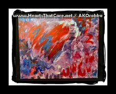 "Ripples of Love - Ready to hang acrylic artwork 20"" x 16"" stretched canvas by Dr. Angela Kowitz Orobko"