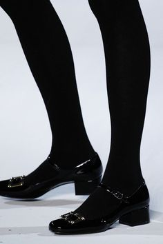 Minimal + Classic: mod mary janes at Saint Laurent | Fall 2014