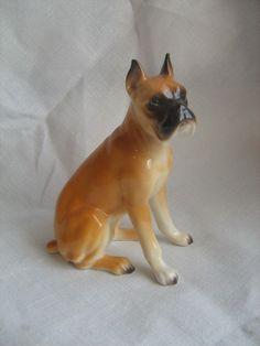 0d4870626be Vintage NAPCO NAPCOWARE Boxer Dog Puppy Figurine C9203 EUC w  Sticker  Napco