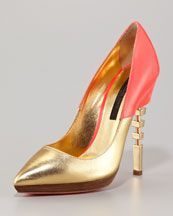 Ruthie Davis Cutout-Heel Pointed-Toe Pump  It's all about that heel!