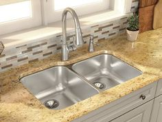 Novanni Elite offers a complete product range and most of the Elite line are now made with heavy, 18 gauge stainless steel. Makes for a quieter, heavier and more durable product. Kitchen Faucets, Kitchen Remodel, Sink, Range, Stainless Steel, Design, Home Decor, Sink Tops, Vessel Sink