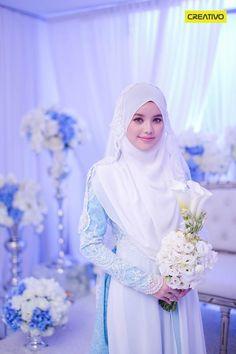 Dr Fatin Liyana on her beautiful solemnization dress.. Malay Wedding