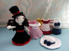 The princess and her clothes free crochet amigurumi pattern