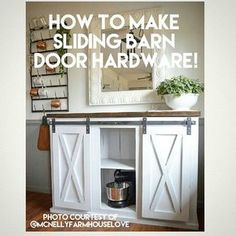 You Tube tutorial now uploaded on how you can make your own sliding barn door hardware for the ever so popular #grandyslidingbarndoorconsole #rusticduckfurniture http://www.ana-white.com/2015/08/free_plans/grandy-sliding-door-console