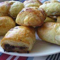 Saucijzenbroodjes met rundergehakt