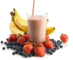 1 scoop whey isolate, 1/2 banana, 1 cup berries, water, 1/2 c organic yogurt, 1 TBS flax oil, 1 TBS hemp seed...fuel for your day!