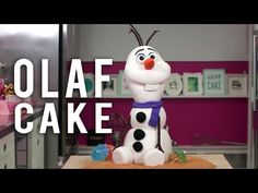 How To Make An OLAF CAKE! Caking This FROZEN Snowman Out Of Chocolate Cake & GANACHE! - YouTube